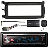 Pioneer DEH-X7800BHS CD Receiver with Enhanced Audio Functions, SiriusXM SXV300v1 Satellite Radio Connect Vehicle Tuner Kit, Metra 99-6503 Dash Kit, Antenna Adaptor, Metra 70-6502 Radio Wiring Harness