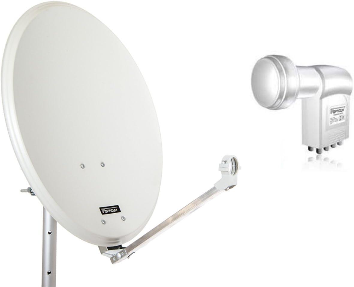 Antena de satélite opticum QA60 de Acero con Octo LNB (60 cm ...