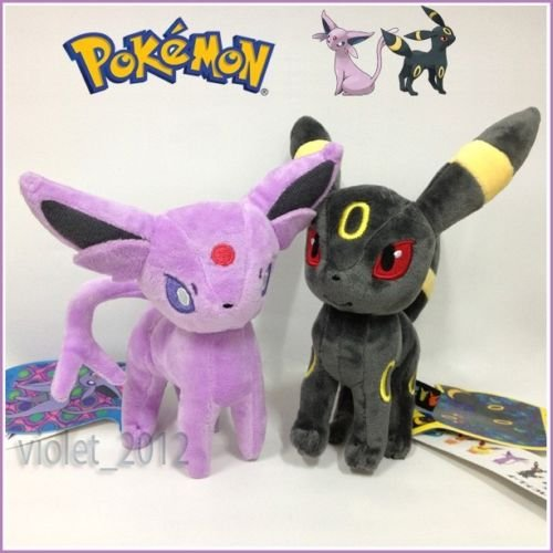 tongrou 2X Pokemon Espeon and Umbreon Plush Soft Toy Stuffed Animal Cuddly Figure 9