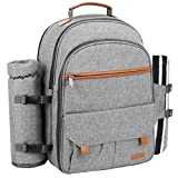 Sunflora Picnic Backpack for 4 Person Set Pack with