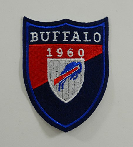 Card Sew (1960 Buffalo Bills NFL Team Varsity Style Felt Crest Logo 4