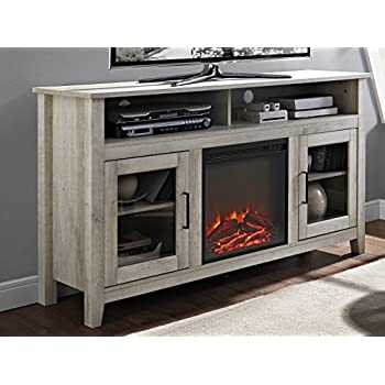 "Amazon WE Furniture 58"" Wood Media TV Stand Console with"