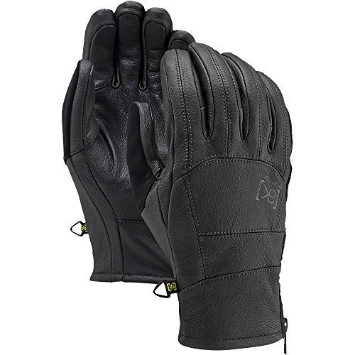 Burton [Ak] Leather Tech Gloves, True Black, (Burton Leather Glove)