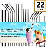 Reusable Metal Straws Drinking Straws For Smoothie Wide Diameter Straw 20oz 30oz 40oz Tumblers Stainless Steel Straws