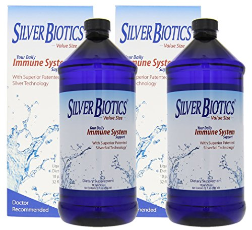 American Biotech Labs Silver Biotics Immune System Support 32oz Multi Pack (2 Pack) by American Biotech Labs