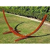 New Wooden Curved Arc Hammock Stand W/ Hammock