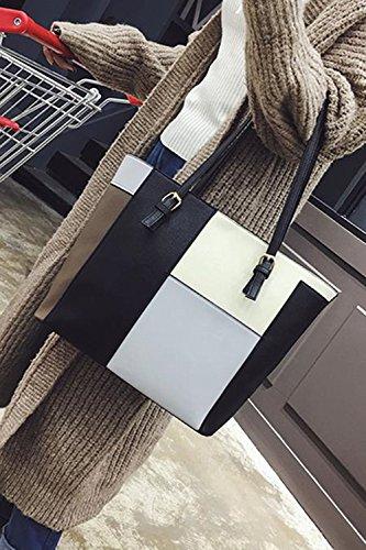 Generic Send Gifts  Grid Hit Color Ing Ms  Portable Shoulder Bag Big Foreskin Atmospheric Color Fashion Pretty Woman