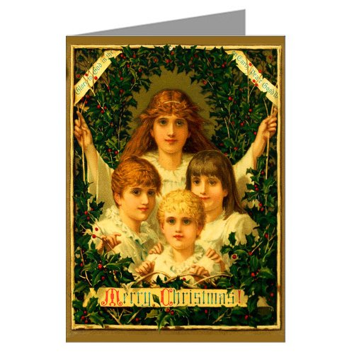 Vintage Original Prangs Holidays Christmas Cards, Of Children Surrounded by Wreath,Victorian Notecards Boxed Set -
