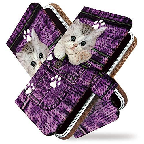 マーチャンダイジング歩道ジェームズダイソンKEIO ケイオー らくらくスマートフォン me F-01L カバー 手帳型ケース ねこ ネコ 猫 キャット 猫柄 f01l 手帳 ジーパン デニム らくらくスマートフォン me F-01L ケース 手帳型 ポケット ピーコ らくらくフォン らくらくホン ittn?????????t0721