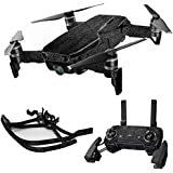 MightySkins Skin For DJI Max Coverage - Black Leather | Protective, Durable, and Unique Vinyl Decal wrap cover | Easy To Apply, Remove, and Change Styles | Made in the USA