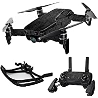 MightySkins Skin for DJI Mavic Air Drone - Black Leather | Max Combo Protective, Durable, and Unique Vinyl Decal wrap cover | Easy To Apply, Remove, and Change Styles | Made in the USA
