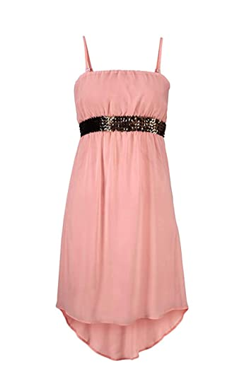 58b1a394fa4 Melrose Cocktailkleid Kleid rosa Pailletten Damen Chiffon Abendkleid   Amazon.de  Bekleidung