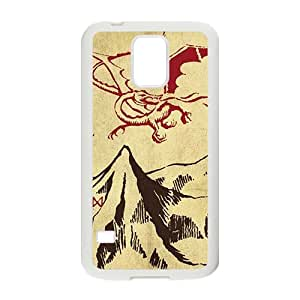 ZXCV Unique mountain and red dinosaur Cell Phone Case for Samsung Galaxy S5