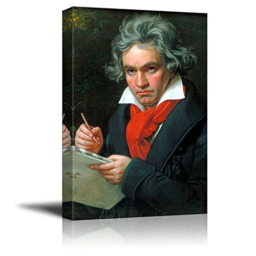 Beethoven by Joseph Karl Stieler Giclee Canvas Prints Wrapped Gallery Wall Art | Stretched and Framed Ready to Hang - 12
