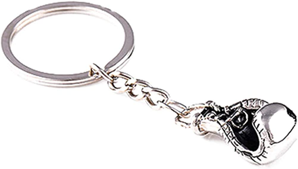Zinc Alloy Boxing Glove Pattern Pendant Keychain Keyring Car Key Chain Key Ring