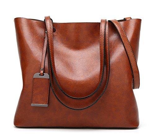 HopeEye mujer Tendencias de la moda Cuero De La Pu Bolso de mujer(dwpj10-6-Coffee) 1-marrón