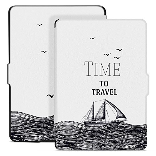 Ayotu Colorful Case for Kindle Paperwhite Auto Wake/Sleep Smart Protective Cover - Fits All Paperwhite Generations Prior to 2018(Not Fit All-New Kindle Paperwhite 10th Gen) K5-09 The Time to Travel