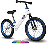 Blue Pro Balance Bike for Big Kids and Kids with Special Needs - 16' No Pedal Glide Training Bicycle for Children Ages 5,6,7,8. Peddle-Less Bike Made for Fun Learning.