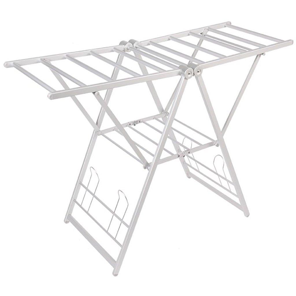LIANGJUN 乾燥ラックメタル折りたたみ多機能翼形状記憶シェルフ、4色、134 * 50 * 145cm ( 色 : シルバー しるば゜ ) B07BF83KT4 シルバー しるば゜