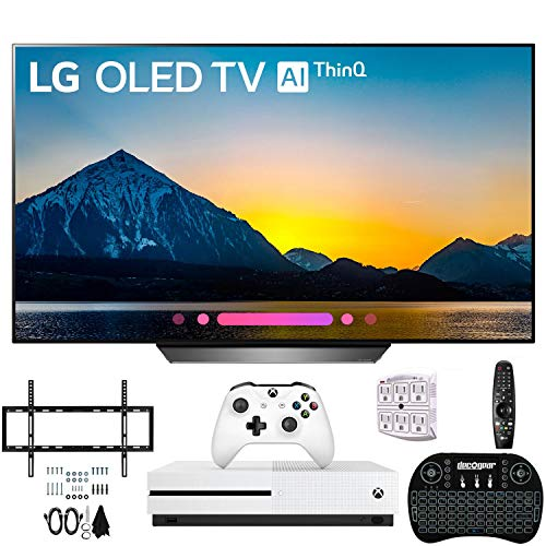 LG OLED55B8PUA 55 Class B8 OLED 4K Ultra HD AI Smart TV Xbox One S and Wall Bracket Bundle