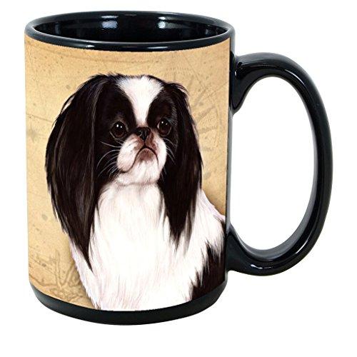 Imprints Plus Dog Breeds (E-P) Japanese Chin 15-oz Coffee Mug Bundle with Non-Negotiable K-Nine Cash (japanese chin 102)