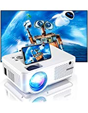 Bomaker Projector, Full HD 1080P and 300 Inches Display Supported, Native 800P and 200 ANSI Lumen, WiFi Mini Portable Home Theater Outdoor Video Movie Projector, Compatible with TV Stick, iPhone
