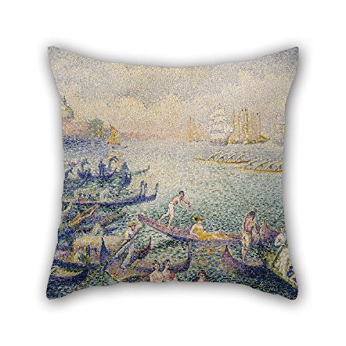 Painting Henri Edmond Cross - Regatta In Venice 18 X 18 Inches / 45 By 45 Cm,best Fit For Dining Room,adults,relatives,indoor,car,office Twin Sides (Venice Embroidery)