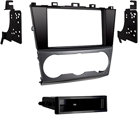 SCOSCHE SU2031B Double DIN Car Stereo Installation Kit Compatible with Select 2015-Up Subaru Impreza XV Crosstrek and Forester Vehicles with Silver AC Vent Trim