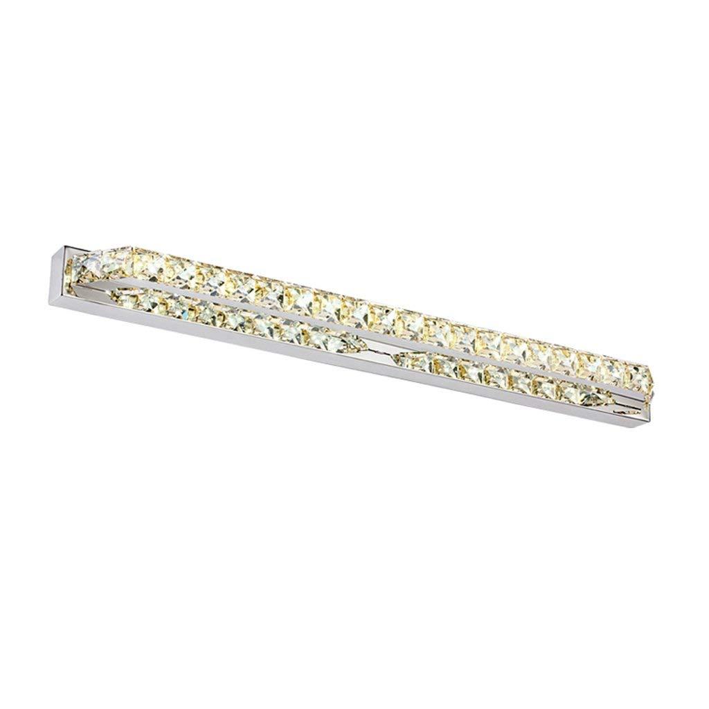 Weiß Light-68cm Ali Fashion Kristall LED Edelstahl Spiegel Front Lampe Schlafzimmer Toilette Badezimmer Beleuchtung (Farbe  Weißes Licht-68cm)