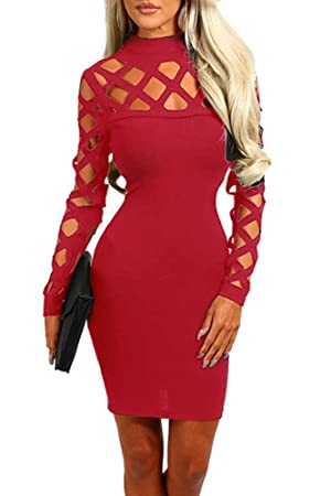 Kleid rot cut out