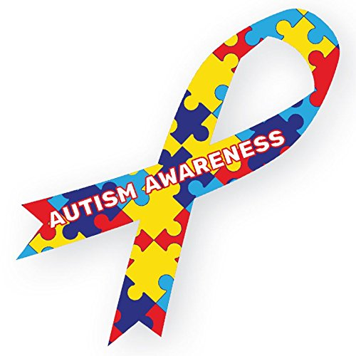 Autism Awareness Ribbon Large Magnetic Car Decal 8