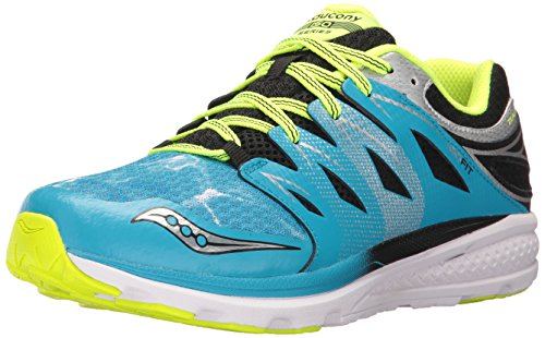 Saucony Kids' Zealot 2 Running-Shoes, Ocean Wave, 4 Medium US Big Kid (Grid Youth Saucony)