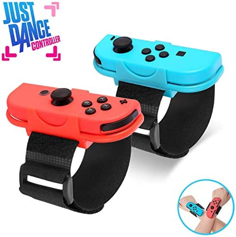 Just Dance 2020 Wrist Band Dance Band Wrist band for Nintendo Switch Adjustable Hook Loop Elastic Strap for Joy Cons Controller 2 Pack
