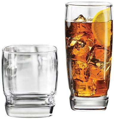 Libbey Carrington 16-Piece Glassware Set, Clear