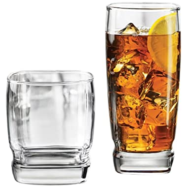 Libbey Carrington 16-Piece Glassware Set, Clear