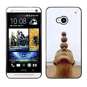 For HTC One M7 Case , Structure Art Head Balls Spiritual - Diseño Patrón Teléfono Caso Cubierta Case Bumper Duro Protección Case Cover Funda