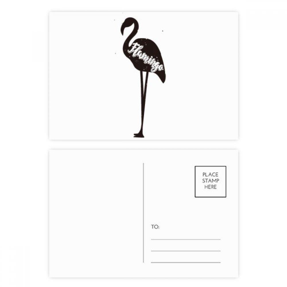 DIYthinker Flamenco Negro y gracias tarjeta blanca Animal ...