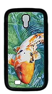 Plastic Phone Case Back Cover galaxy s4 case I9500 - Painted koi