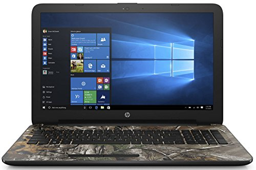 """HP 15.6"""" HD Realtree Xtra camo pattern Laptop Computer, Intel Quad Core Pentium N3710 1.6Ghz, 4GB RAM, 1TB HDD, DVDRW, USB 3.0, HDMI, Bluetooth, WIFI, Windows 10 Home (Certified Refurbishd)"""