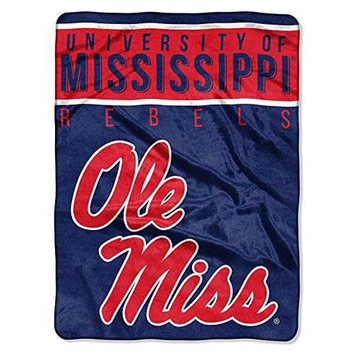 (The Northwest Company Officially Licensed NCAA University of Mississippi Ole Miss Rebels Basic Raschel Throw Blanket, 60