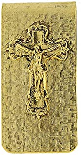 product image for Symbols of Faith 14K Gold-Dipped Crucifix Money Clip
