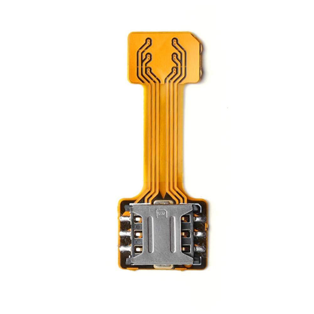 Domybest SIM Extender Adaptateur Carte SIM Double Hybride pour Adaptateur Micro SD TF pour Android Extender 2 Nano Micro SIM Adapter (Nano SIM)