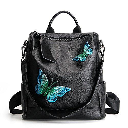 GUANGMING77 Mariposa Solo Bolsa Blue Mochila Hombro Azul Mochila Capacidad Gran butterfly De rqfFAr