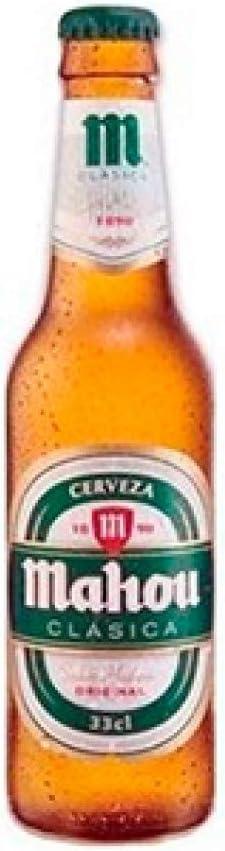 Mahou Clásica Pack Cerveza Dorada Lager, 4.8% de Volumen de Alcohol - Pack de 6 x 25 cl: Amazon.es: Alimentación y bebidas
