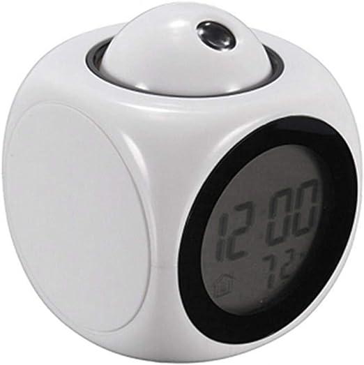 Reloj despertador de proyección digital Informe de voz Reloj del ...