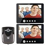 HITSAN SY905FC12 Video Door Phone Doorbell Intercom Kit 900TVL IR Night Vision 1-Camera 9 Inch TFT LCD 2-Monitor One Piece