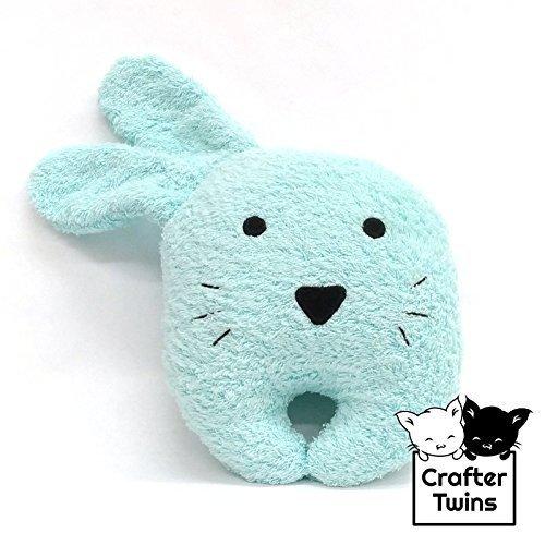 Summer Friends - Azul - Conejo de toalla - Reposacabezas - Hecho a mano - Crafter