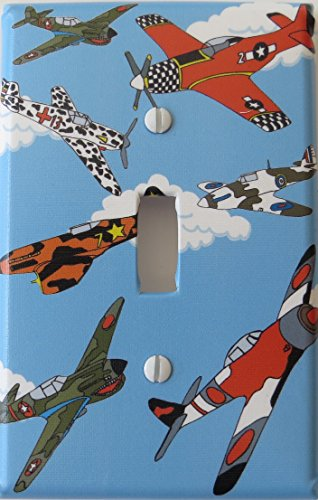 Airplane Light Switch Plate Single Toggle / Airplane Wall Decor by Presto Light Switch Plate Covers