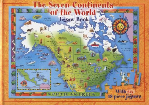 The seven continents of the world jigsaw book jennifer mappin the seven continents of the world jigsaw book jennifer mappin 9781741244731 amazon books gumiabroncs Image collections