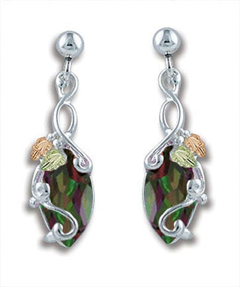 Landstroms Black Hills Silver Mystic Fire Topaz Earrings - ER968PDSS-471